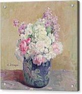 Vase Of Flowers Acrylic Print by Henri Lebasque