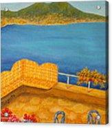Veduta Di Vesuvio Acrylic Print by Pamela Allegretto