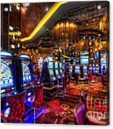 Vegas Slot Machines Acrylic Print by Yhun Suarez