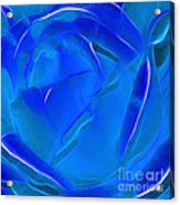 Veil Of Blue Acrylic Print by Kaye Menner