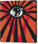 Vendetta2 Eyeball Acrylic Print by Sassan Filsoof
