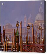 Venezia E La Nebbia Acrylic Print by Guido Borelli