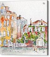 Venezia Grand Canal Acrylic Print by Pat Katz
