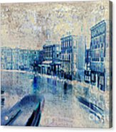 Venice Canal Grande Acrylic Print by Frank Tschakert