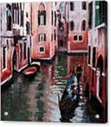Venice Gondola Ride Acrylic Print by Janet King