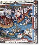 Venice. The Dock Of St. Mark Acrylic Print by Everett