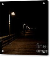 Ventura Pier At Night Acrylic Print by John Daly