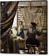 Vermeer, Johannes 1632-1675. The Acrylic Print by Everett