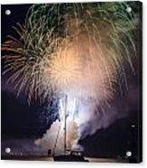 Vermont Fireworks Acrylic Print by Randall Bertrand