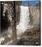 Vernal Falls With Rainbow Acrylic Print by Jane Rix