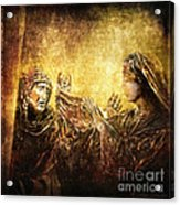 Veronica Wipes His Face Via Dolorosa 6 Acrylic Print by Lianne Schneider