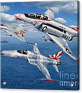 Vf-111 Sundowners Heritage Acrylic Print by Stu Shepherd