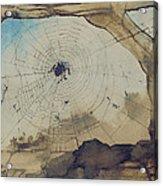 Vianden Through A Spider's Web Acrylic Print by Victor Hugo