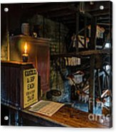 Victorian Candle Factory Acrylic Print by Adrian Evans