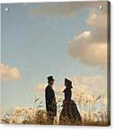 Victorian Man And Woman Acrylic Print by Lee Avison