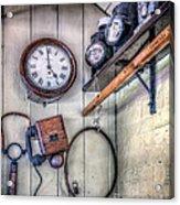 Victorian Train Memorabilia Acrylic Print by Adrian Evans