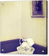 Victorian Wash Basin And Jug Acrylic Print by Amanda And Christopher Elwell