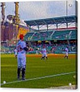Victory Field Catcher 1 Acrylic Print by David Haskett