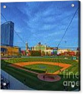 Victory Field Home Plate Acrylic Print by David Haskett
