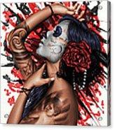 Vidas Angel Acrylic Print by Pete Tapang