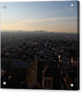 View From Basilica Of The Sacred Heart Of Paris - Sacre Coeur - Paris France - 011317 Acrylic Print by DC Photographer