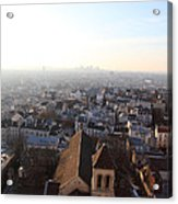 View From Basilica Of The Sacred Heart Of Paris - Sacre Coeur - Paris France - 011318 Acrylic Print by DC Photographer