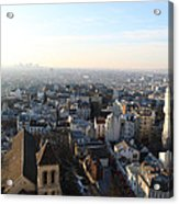 View From Basilica Of The Sacred Heart Of Paris - Sacre Coeur - Paris France - 011320 Acrylic Print by DC Photographer