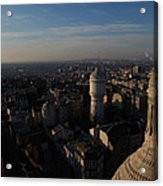 View From Basilica Of The Sacred Heart Of Paris - Sacre Coeur - Paris France - 011321 Acrylic Print by DC Photographer