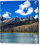 View From Little Redfish Lake Acrylic Print by Robert Bales