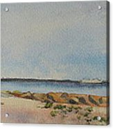 View Of Harkness Park From Seaside Waterford Ct Acrylic Print by Patty Kay Hall