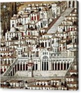 View Of The City De Damascus, Syrian Acrylic Print by Everett