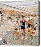 View Of The First Class Swimming Pool Acrylic Print by French School