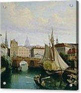 View Of The Riddarholmskanalen Acrylic Print by Gustav Palm