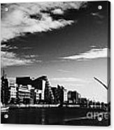 View Of The Samuel Beckett Bridge Over The River Liffey And The Convention Centre Dublin Republic Of Acrylic Print by Joe Fox