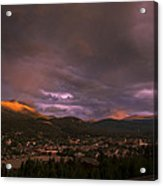 View Over Breckenridge Acrylic Print by Michael J Bauer