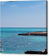 View Through The Walls Of Fort Jefferson Acrylic Print by John M Bailey