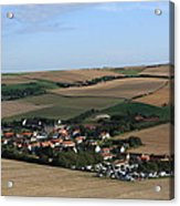 Village In A French Landscape  Acrylic Print by Aidan Moran