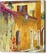 Village In Provence Acrylic Print by Chris Brandley