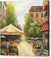 Village Scene Acrylic Print by John Zaccheo