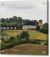 Ville Di Corsano Near Siena - Tuscany Italy Acrylic Print by Karen Stephenson