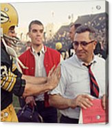 Vince Lombardi Congratulated Acrylic Print by Retro Images Archive