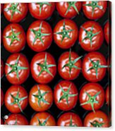 Vine Tomato Pattern Acrylic Print by Tim Gainey