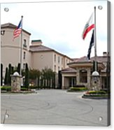 Vineyard Creek Hyatt Hotel Santa Rosa California 5d25787 Acrylic Print by Wingsdomain Art and Photography
