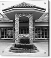 Vineyard Creek Hyatt Hotel Santa Rosa California 5d25792 Bw Acrylic Print by Wingsdomain Art and Photography