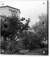 Vineyard Creek Hyatt Hotel Santa Rosa California 5d25795 Bw Acrylic Print by Wingsdomain Art and Photography