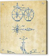 Vintage 1866 Velocipede Bicycle Patent Artwork Acrylic Print by Nikki Marie Smith