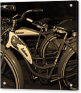 Vintage 1941 Boys And 1946 Girls Bicycle 5d25760 Sepia1 Acrylic Print by Wingsdomain Art and Photography