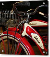 Vintage 1941 Boys And 1946 Girls Bicycle 5d25760 Square Acrylic Print by Wingsdomain Art and Photography