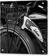Vintage 1941 Boys And 1946 Girls Bicycle 5d25760 Vertical Black And White Acrylic Print by Wingsdomain Art and Photography