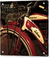 Vintage 1941 Boys And 1946 Girls Bicycle 5d25760 Vertical Sepia2 Acrylic Print by Wingsdomain Art and Photography